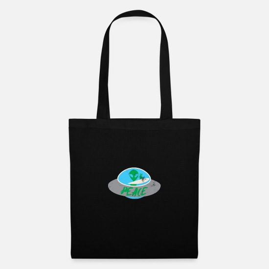 Outerspace Bags & Backpacks - Alien / Area 51 / UFO: Peace - Tote Bag black