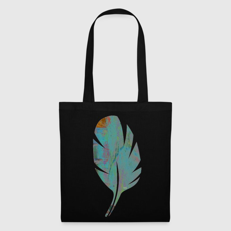 Blue and orange feather - Tote Bag