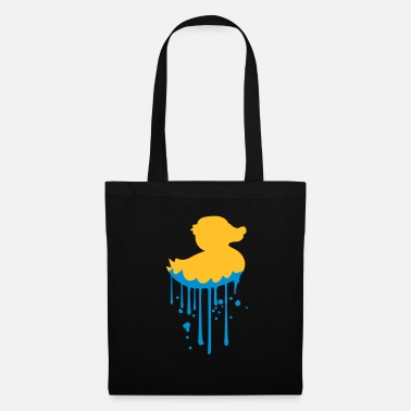 Drip water wet graffiti drops spray stamp silhoue - Tote Bag