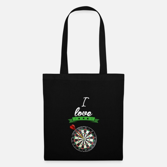 Birthday Bags & Backpacks - I love darts sport gift - Tote Bag black