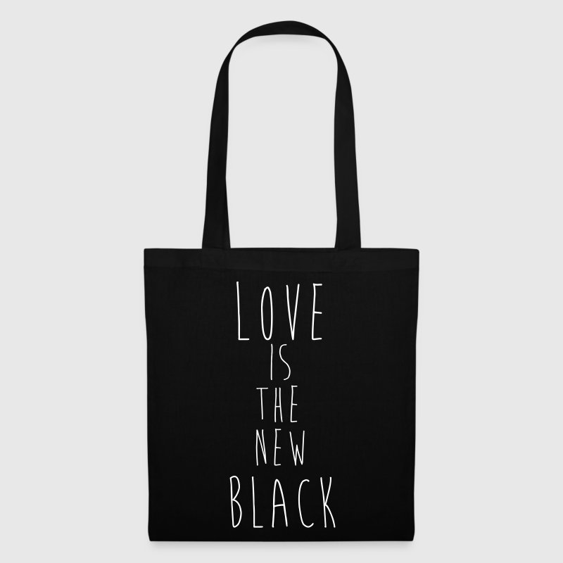 _ LOVE IS THE NEW BLACK HIPSTER SHIRT - Stoffbeutel