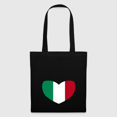Italian Flag Heart - Tote Bag