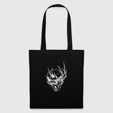 scary skull with spider - Tote Bag