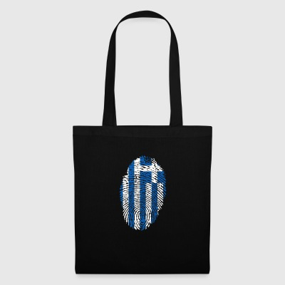 Fingerprint i love roots greece greece - Tote Bag
