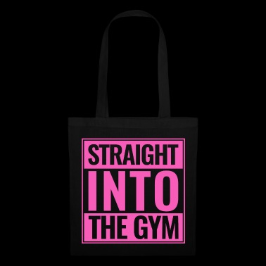 Straight Into The Gym Logo pink - Stoffbeutel