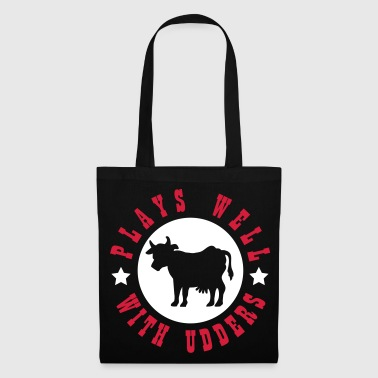 Plays well with udders - Tote Bag