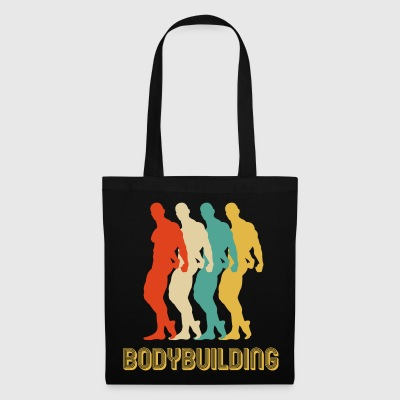 Cadeaux rétro de bodybuilding de style de Pop Art. Fit papa - Tote Bag