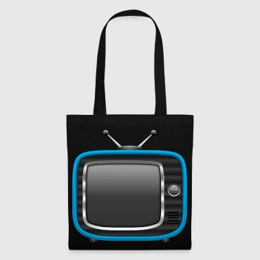 Retro Tv Blue 002 AllroundDesigns - Tote Bag
