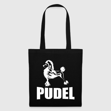 Poodle with lettering - Tote Bag