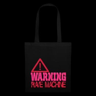 warning rave machine - Tote Bag
