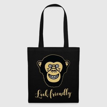 Singe Chimpanzé - regard amical - Tote Bag