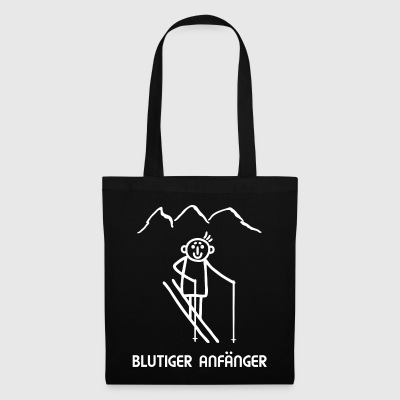 Skier winter sports - bloody beginner - Tote Bag