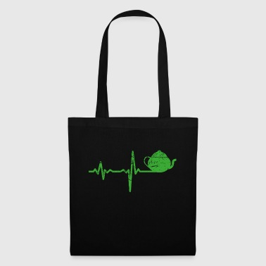 Gift heartbeat drink tea - Tote Bag