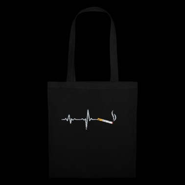 Cadeau de cigarette Heartbeat - Tote Bag