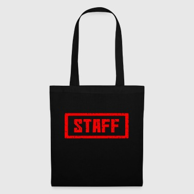 Staff stamp red - Tote Bag