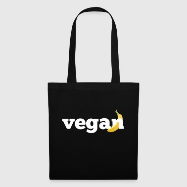 Vegan typography, for vegans who love bananas - Tote Bag