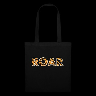 ROAR roar lettering tiger pattern stripes - Tote Bag
