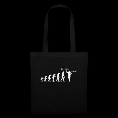 Evolution de l'homme:Point de côté...j'abandonne ! - Tote Bag