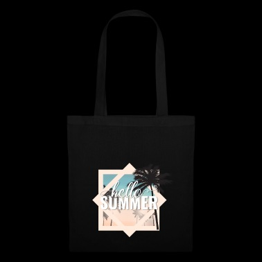Hello summer! Great gift. Vacation, sun palms - Tote Bag