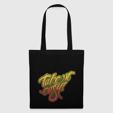 Take it easy giallo-rosso - Borsa di stoffa