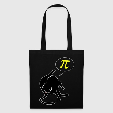Cat licks butt and thinks of Pi math - Tote Bag