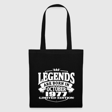 Legends are born in october 1977 - Tote Bag