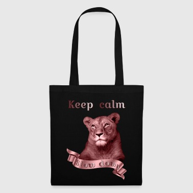 Keep calm Slow Down copper animal collection - Tote Bag