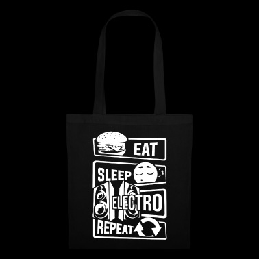 Eat Sleep Electro Repeat - Party Festival Music - Tote Bag