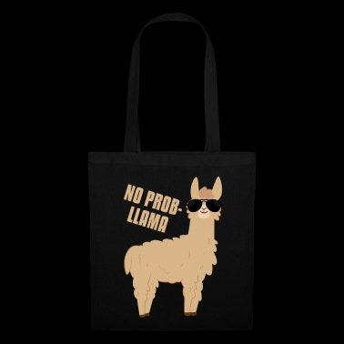 No Prob-llama Llama with sunglasses Funny Gifts - Torba materiałowa