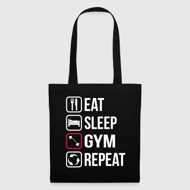 Eet Sleep Gym Repeat - Tas van stof