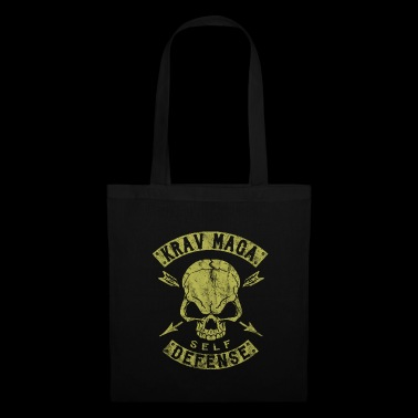Krav Maga Self Defense Skull - Stoffbeutel