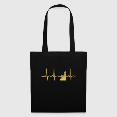 evolution ekg heartbeat hiking climbing mountain climbing - Tote Bag