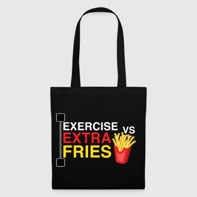 Exercise vs extra fries | the eternal fight! - Tote Bag