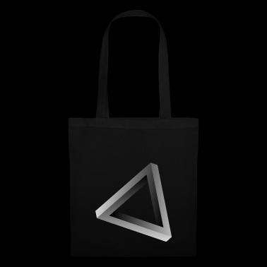 Illusion d'optique triangle impossible - Tote Bag