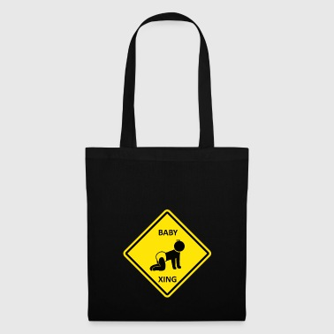 Crawling kid crossing - Tote Bag