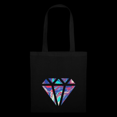 Conception de diamant coloré simple / symbole - Tote Bag