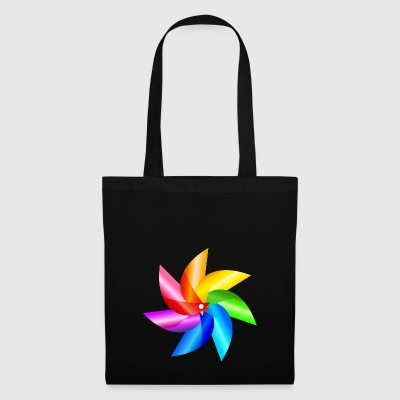 colorful windmill children's toy rainbow summer - Tote Bag
