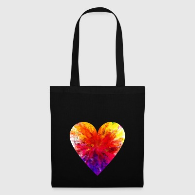 coeur coloré - Tote Bag