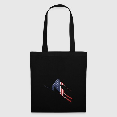 ski | skieur | ski | USA Stars & Stripes - Tote Bag