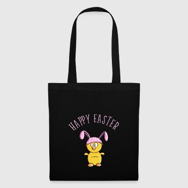 Happy Easter chick as easter bunny - easter - Tote Bag