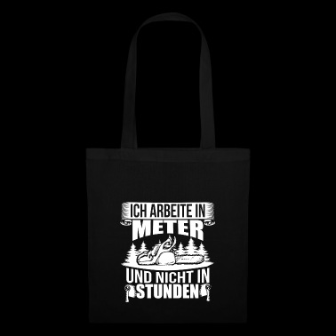 WOODEN SAW CHAINSAW GIFT FOREST FÖRSTER PROFESSION - Tote Bag