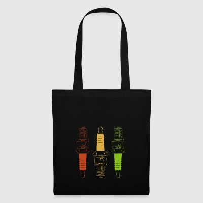 Spark Plugs - Red Yellow Green - Tote Bag