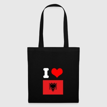 I love Albania motif for Albania fans gift - Tote Bag