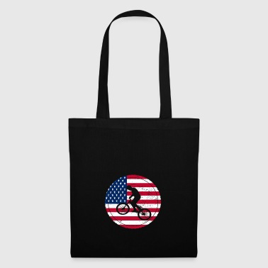 Bicycle bmx love biking USA America - Tote Bag
