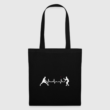 Heartbeats Love Table Tennis Sports Design - Tote Bag