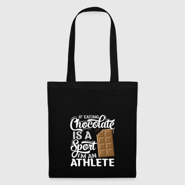 Athletic chocolates eater - Tote Bag