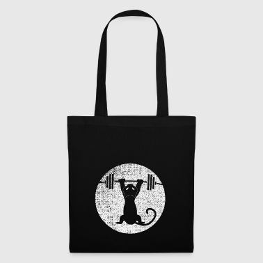 Cat Lifting Deadlift Funny Fitness Gift - Tote Bag