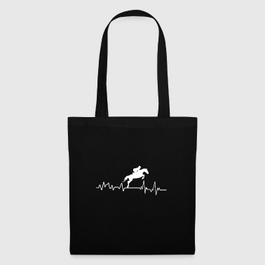 Heartbeat show jumping riding T-shirt gift - Tote Bag