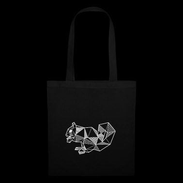 Squirrel geometric forest gift idea animal - Tote Bag