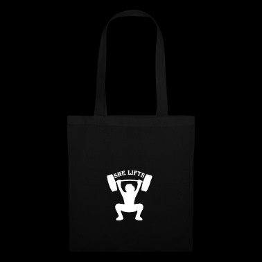 She lifts - Tote Bag